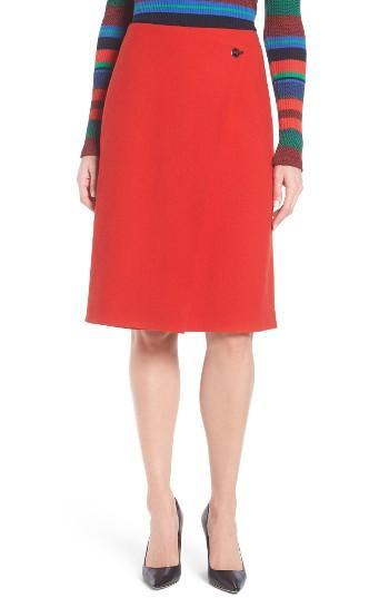 Petite Women's Boss Vubali A-line Skirt P - Red