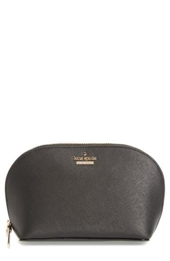 Kate Spade New York Cameron Street - Small Abalene Leather Cosmetics Case, Size - Rose Gold