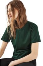 Women's Topshop Distressed Edge Tee Us (fits Like 0) - Green