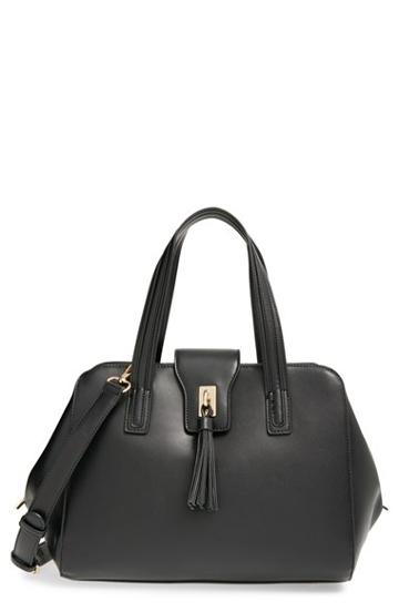 Sole Society Tasseled Faux Leather Satchel -