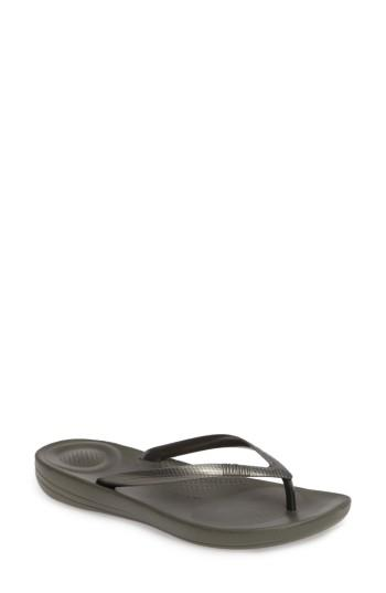 Women's Fitflop Iqushion Flip Flop M - Green