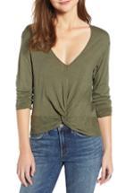 Women's Treasure & Bond Twist Detail Cotton Blend Top - Green