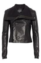 Women's Veda Max Leather Jacket, Size - Black
