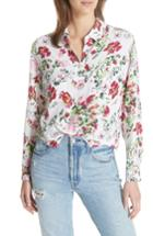 Women's Equipment Signature Floral Silk Shirt - White