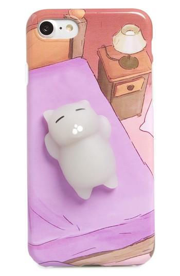 Bp. Squishy Cat In Bed Iphone 7/8 Case - Purple