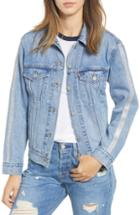 Women's Levi's Ex-boyfriend Tux Stripe Denim Trucker Jacket - Blue