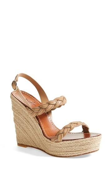 Women's Valentino 'twist' Espadrille Wedge Sandal, Size 11us /