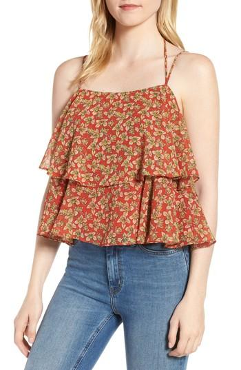 Women's Rebecca Minkoff Cynthia Floral Tiered Top - Red