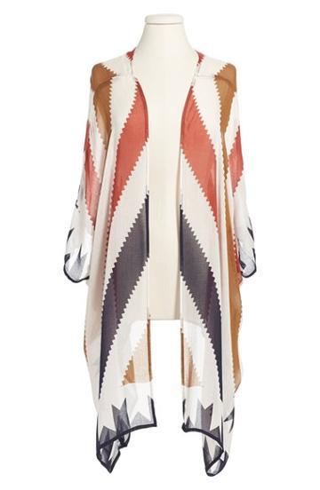 Women's Sole Society Geometric Print Kimono