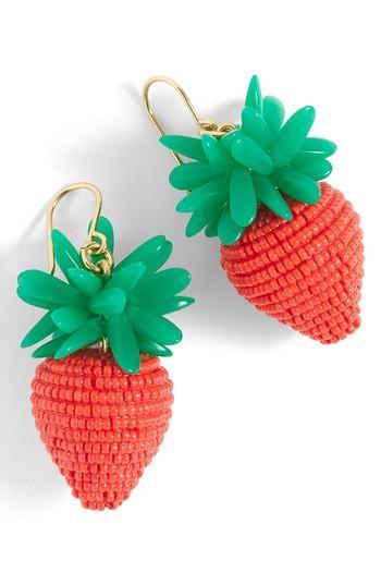 Women's J.crew Strawberry Earrings
