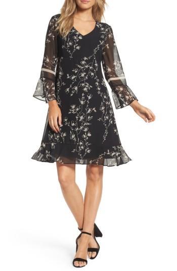 Women's Taylor Dresses Floral Chiffon Shift Dress
