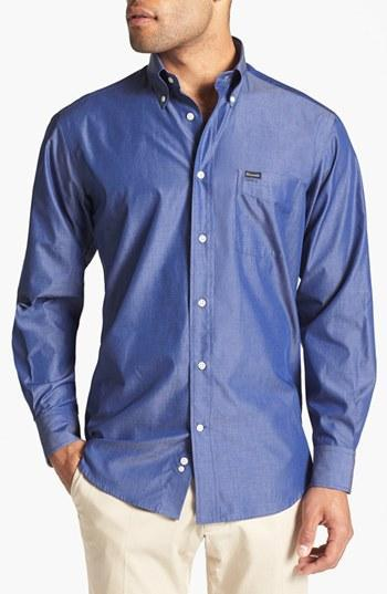 Faconnable Classique Fit Sport Shirt Blue