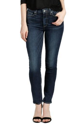 Women's Paige Transcend Vintage - Hoxton Ankle Peg Skinny Jeans - Blue