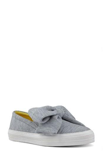 Women's Nine West Onosha Bow Slip-on Sneaker .5 M - Grey