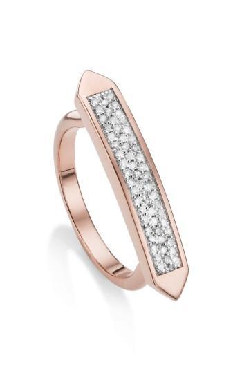 Women's Monica Vinader Baja Skinny Diamond Stacking Ring