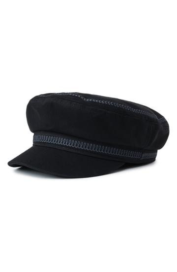 Women's Brixton Embroidered Snake Fiddler Cap - Black