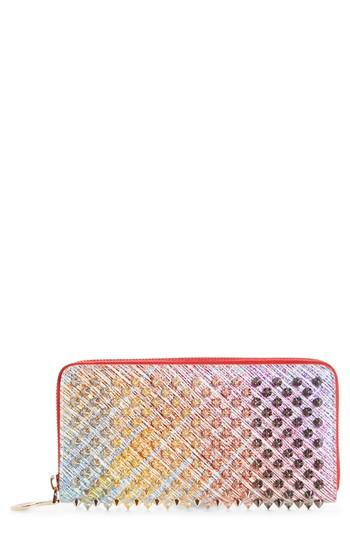 Women's Christian Louboutin Panettone Spiked Leather Wallet -