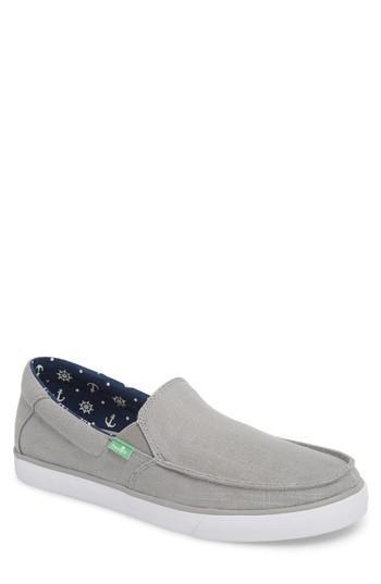 Men's Sanuk Sideline Linen Slip-on M - Grey