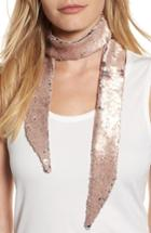Women's Ted Baker London Sequin Velvet Skinny Scarf, Size - Pink