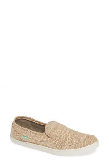 Women's Sanuk Pair O Dice Slip-on Sneaker M - Beige