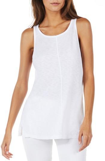 Women's Michael Stars Slim Tank, Size - White