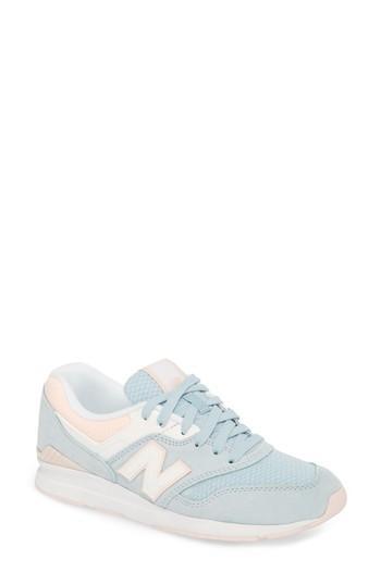 Women's New Balance Leather 697 Sneaker B - Blue
