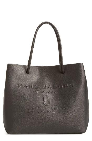 Marc Jacobs Logo Leather Shopper - Black