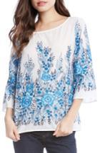Women's Karen Kane Embroidered Cotton Top - White