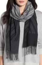 Women's Eileen Fisher Colorblock Stripe Cotton Scarf