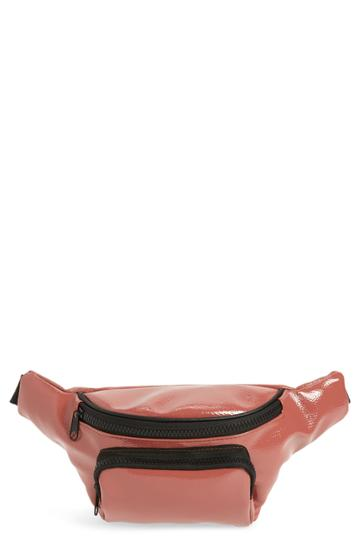 Jane & Berry Faux Patent Leather Belt Bag - Pink