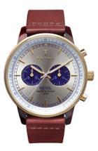 Men's Triwa 'nevil' Chronograph Leather Strap Watch, 38mm