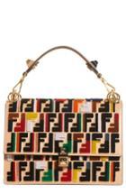 Fendi Kan I Logo Embellished Leather Shoulder Bag - Brown