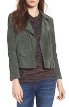 Women's Rebecca Minkoff Wes Suede Moto Jacket, Size - Green