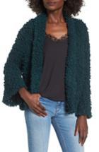 Women's Bp. Fluffy Knit Cardigan, Size - Green
