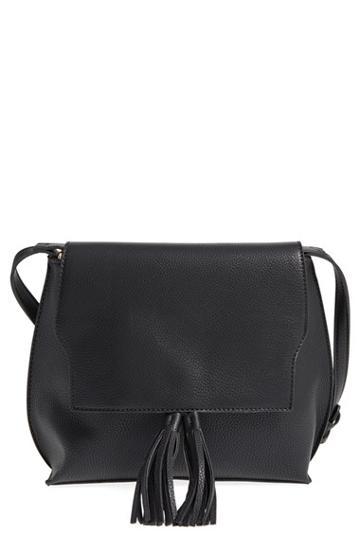 Sole Society Tassel Faux Leather Crossbody Bag -