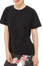 Women's Topshop Tulle Back Tee Us (fits Like 0) - Black