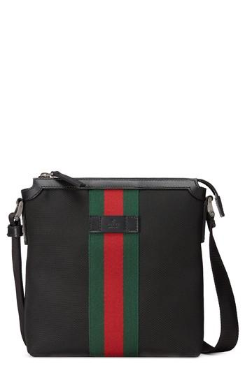 Men's Gucci Stripe Messenger Bag -
