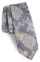 Men's Nordstrom Men's Shop Bradford Paisley Skinny Tie, Size - Blue