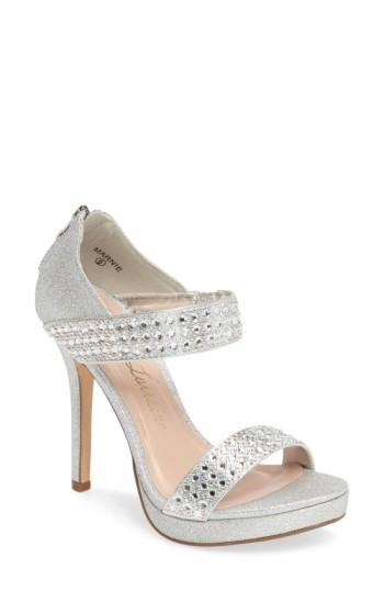 Women's Lauren Lorraine Marnie Embellished Sandal M - Metallic