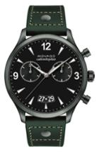 Men's Movado Heritage Calendoplan Chronograph Leather Strap Watch, 45mm