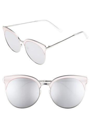 Women's Quay Australia Mia Bella 56mm Sunglasses - Pink/ Silver