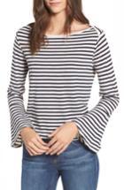 Women's Splendid Stripe Bell Sleeve Top - White