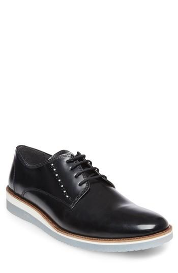 Men's Steve Madden Intern Cap Toe Derby M - Black