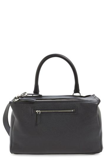 Givenchy 'medium Pandora' Sugar Leather Satchel - Black
