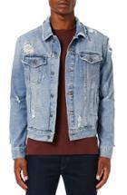 Men's Topman Distressed Denim Jacket