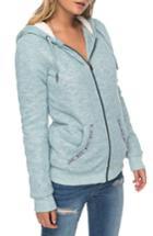 Women's Roxy Trippin Fleece Trim Hoodie - Blue