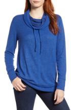 Women's Caslon Cowl Hood Pullover - Blue