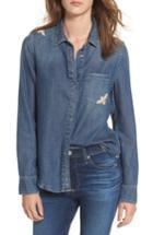 Women's Ag Joanna Embroidered Denim Shirt