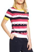 Women's 1901 Embellished Colorblock Stripe Sweater - Pink