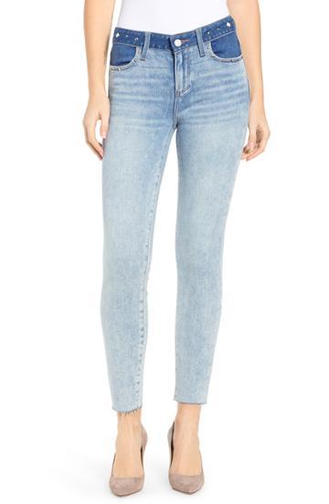 Women's Paige Verdugo Raw Hem Ankle Skinny Jeans - Blue